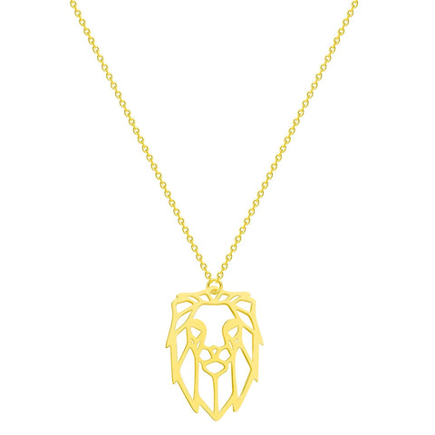 Collier Zodiaque Lion Origami Or