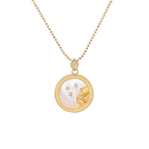 Collier Signe Astrologique Verseau Astral Or