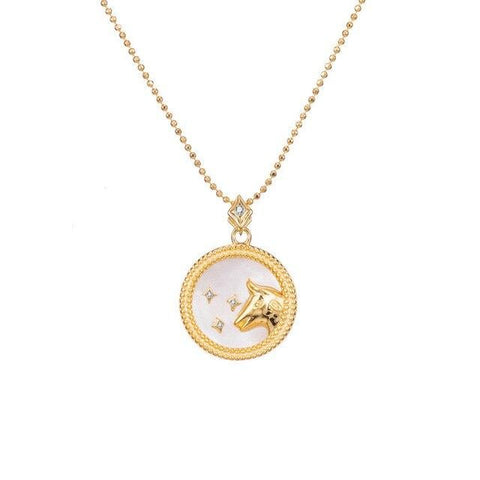 Collier Signe Astrologique Taureau Astral Or