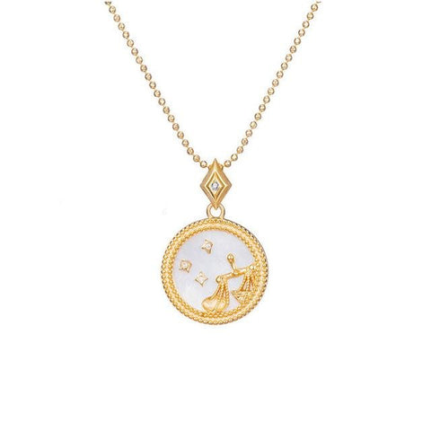 Collier Signe Astrologique Balance Astral Or