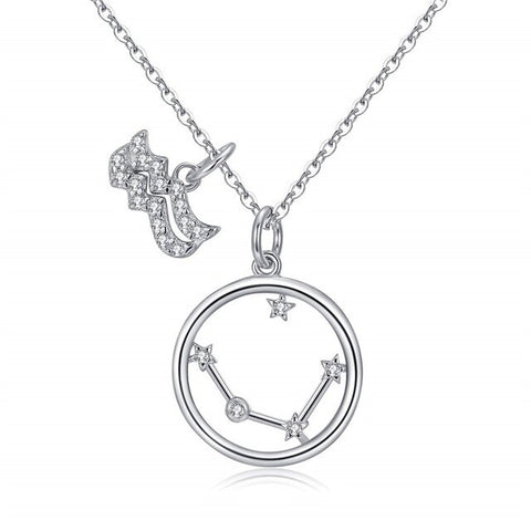 Collier Signe Astrologique Verseau Double