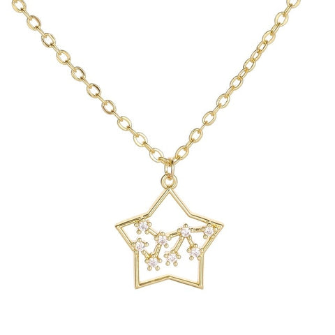 Collier Constellation Sagittaire Etoile Or