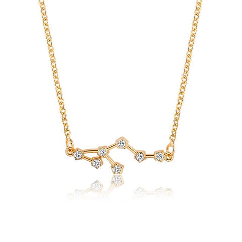 Collier Constellation Lion Or