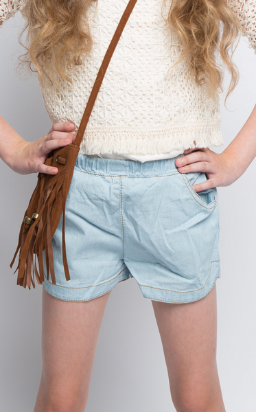 Denim Delight Scalloped Shorts - Posh Peyton