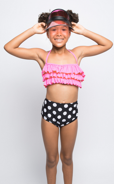 Pink & Polka Dots Swim Suit
