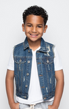 Baddest Behavior Denim Vest - Posh Peyton