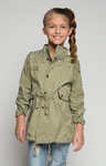 Diamond In The Rough Army Parka - Posh Peyton