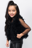 Foxy Feather Vest - Posh Peyton