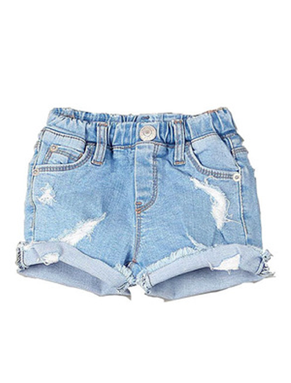 Little Denim Cutoff Shorts - Posh Peyton