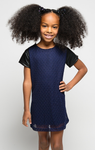 Little Miss Navy Dress - Posh Peyton