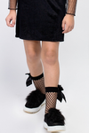 Nothing Bow About It Fishnet Socks - Posh Peyton