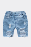 Oh Boy Distressed Denim Shorts - Posh Peyton