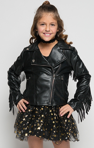 Rude Gal Fringe Leather Jacket - Posh Peyton