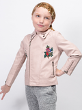 Strike A Rose Leather Bomber Jacket - Posh Peyton