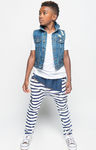 The Patchwerk Striped Joggers - Posh Peyton