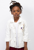White On White Denim Jacket