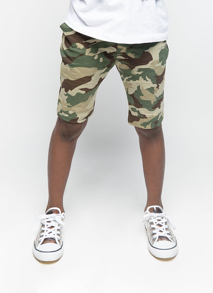 You Know The Drill Camo Shorts - Posh Peyton