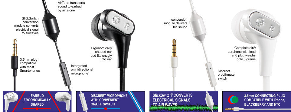 air airtube low radiation earphone headsets for cellphones