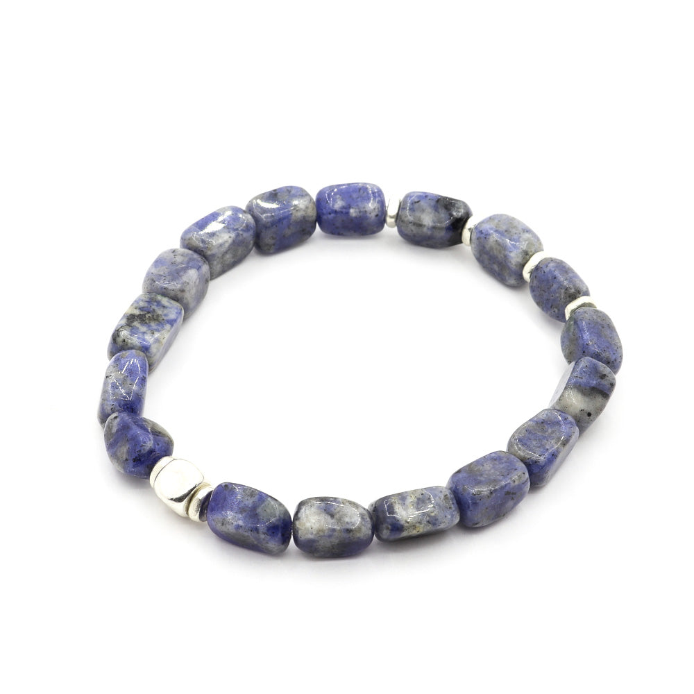 7MM CUBED SODALITE WITH THAI SILVER