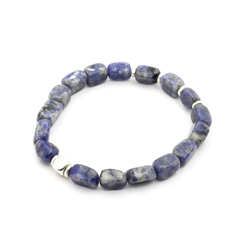CUBED SODALITE WITH THAI SILVER