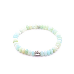 6MM LADIES AMAZONITE WITH THAI SILVER