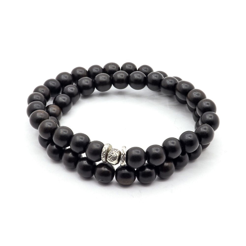 BLACK EBONY WOOD WITH THAI SILVER