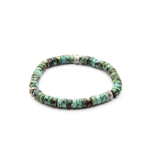 6MM LADIES TURQUOISE WITH THAI SILVER