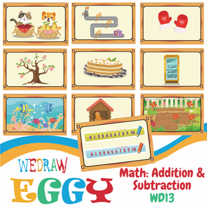 Math: Addition and Subtraction - 10pcs-Eggy Cards-PenPalBots
