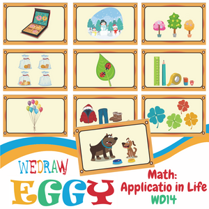 Math: Everyday Objects - 10pcs-Eggy Cards-PenPalBots