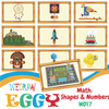 Math: Shapes and Numbers - 10pcs-Eggy Cards-PenPalBots