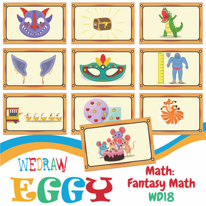 Math: Fantasy Creatures - 10pcs-Eggy Cards-PenPalBots