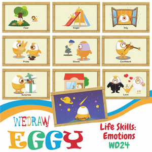 Life Skills: Emotions - 10pcs-Eggy Cards-PenPalBots