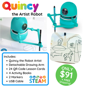 Quincy the Robot Artist - Starter Set-EDUCATIONAL ROBOT-PenPalBots