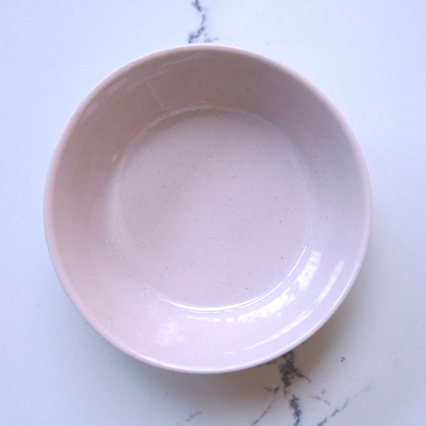 Small pink ridged bowl