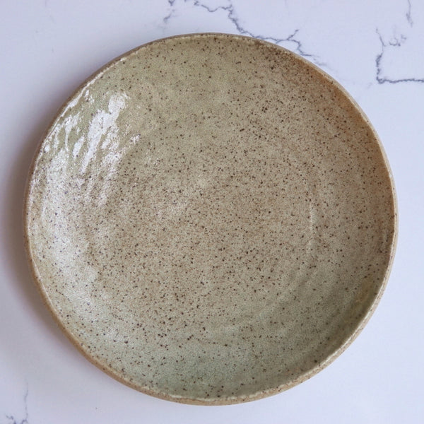 Tan brown speckle dinner plate