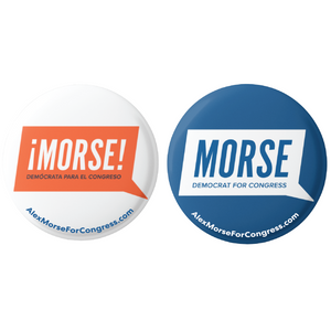 "Alex Morse for Congress Latinx Button 2-Pack (2.25"")"