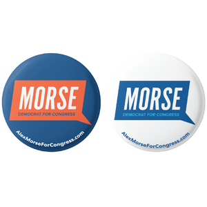 "Alex Morse for Congress Logo Button 2-Pack (2.25"")"
