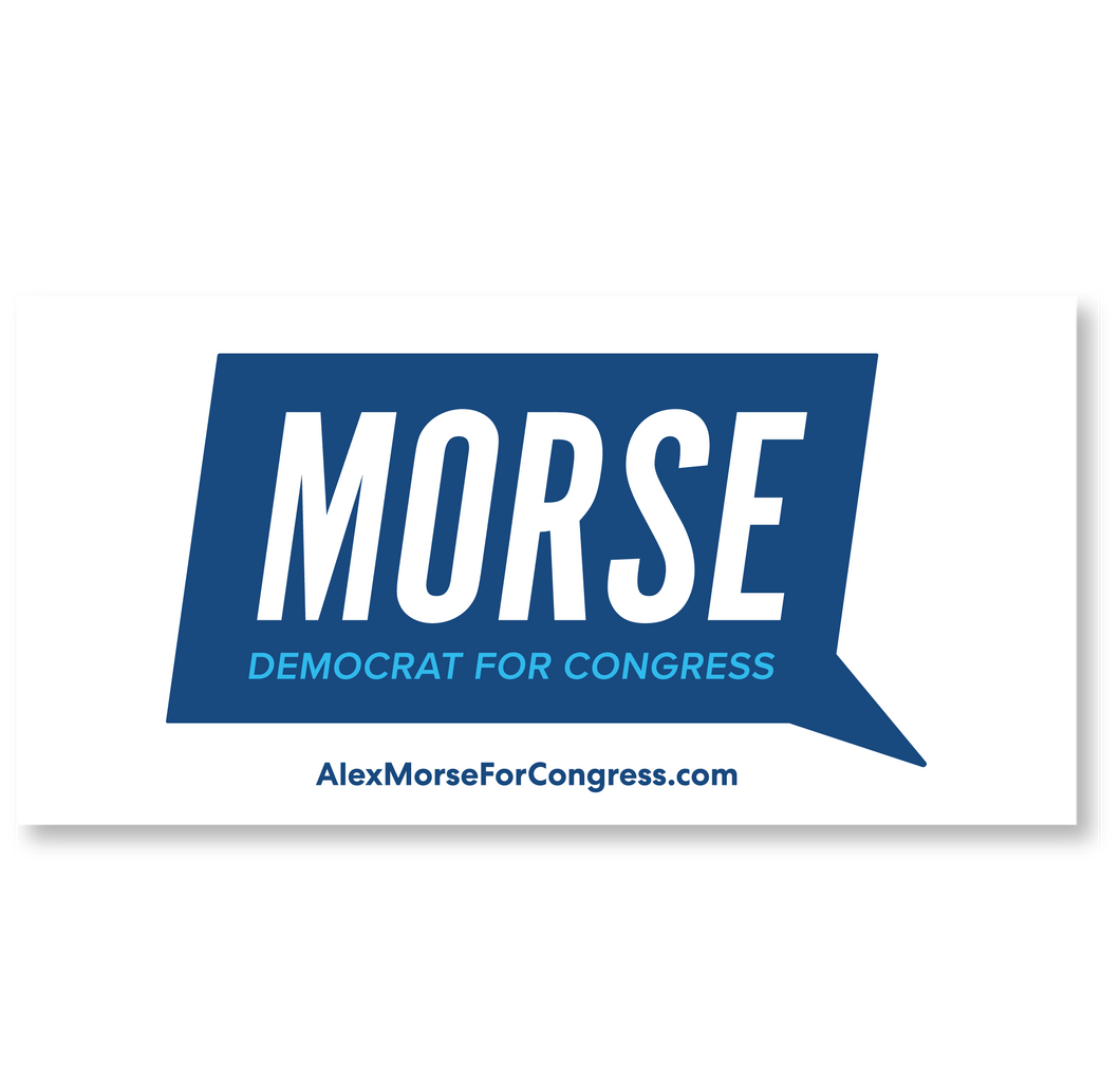 Alex Morse for Congress Logo Bumper Sticker