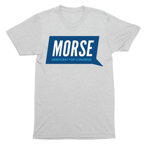 Alex Morse for Congress Grey Logo T-Shirt