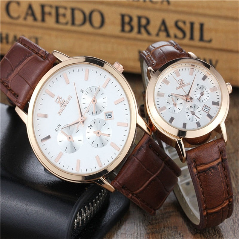 New Fashion Leather Lover's Watches