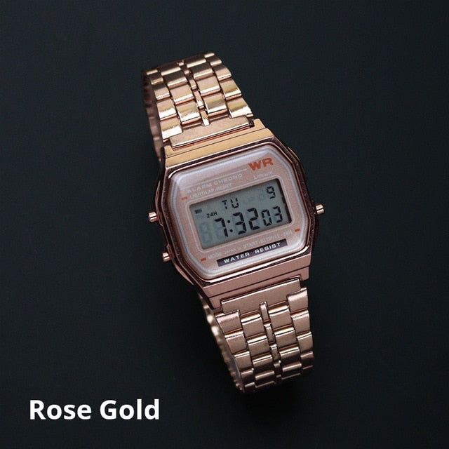 Rose Gold Silver Watches for Men