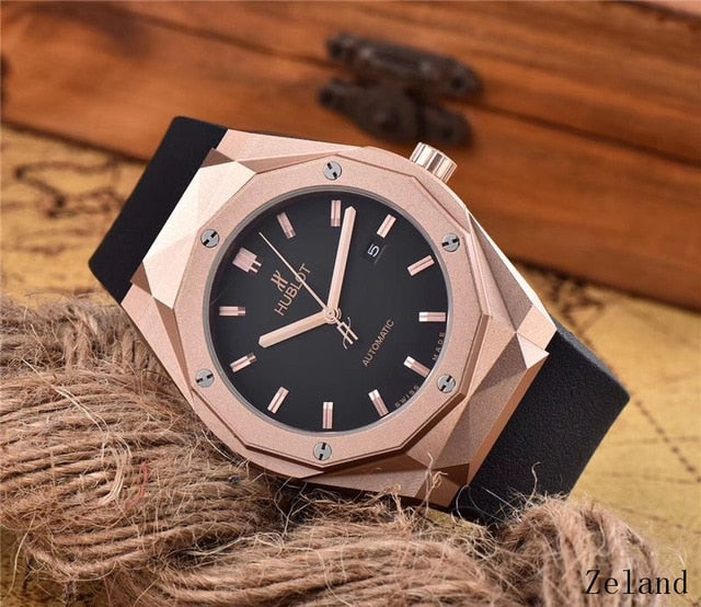 HUBLOT Luxury Brand Quartz Mens Watch