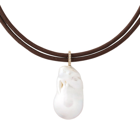 Freshwater Pearl Drop Gold Diamond Bale
