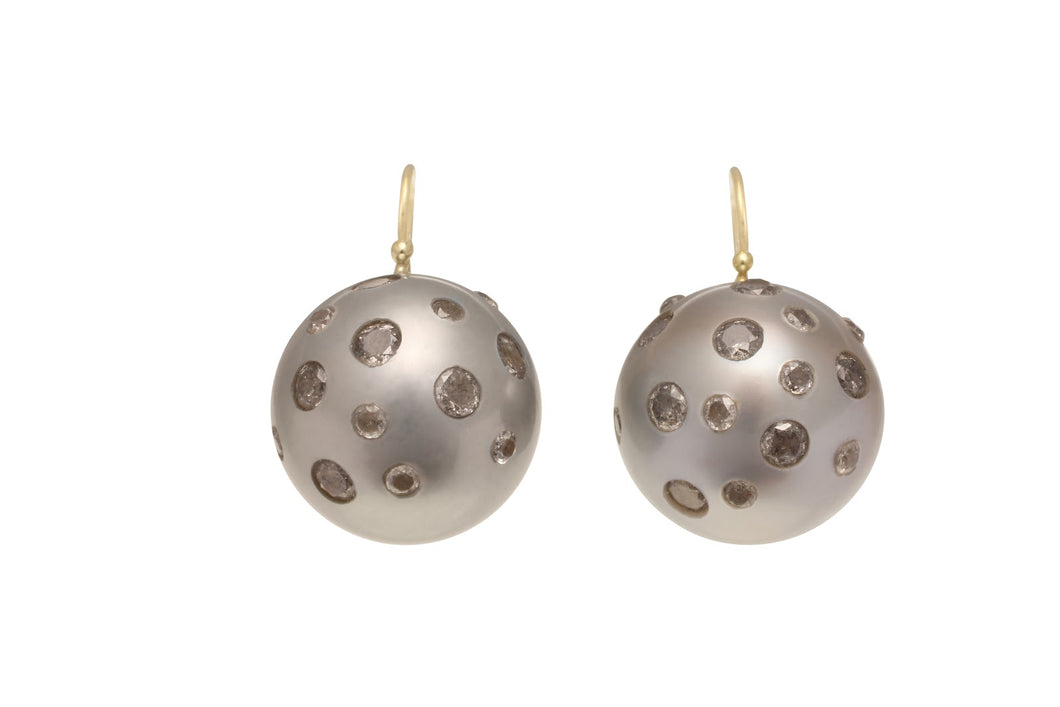 16mm South Sea Soft Gray Pearl Earring