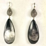 Dark Horn Drop Earring