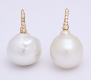 18-20mm White South Sea Pearl Earring