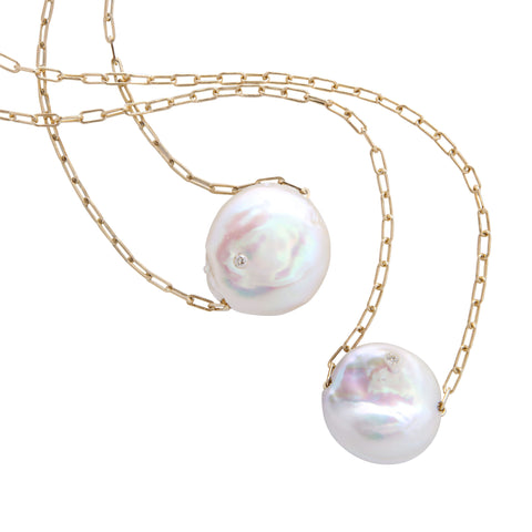 "16"" cultured freshwater petal pearl necklace"