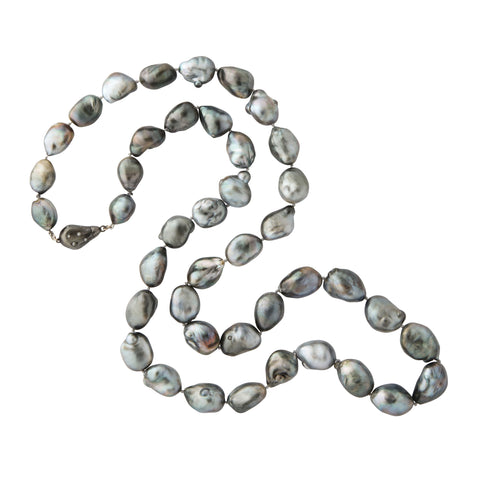 one of a kind 13-16mm graduated grey south sea baroque pearls