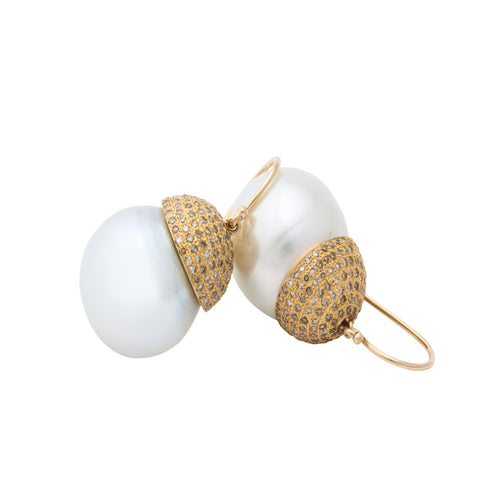 16.5mm south sea pearl earring