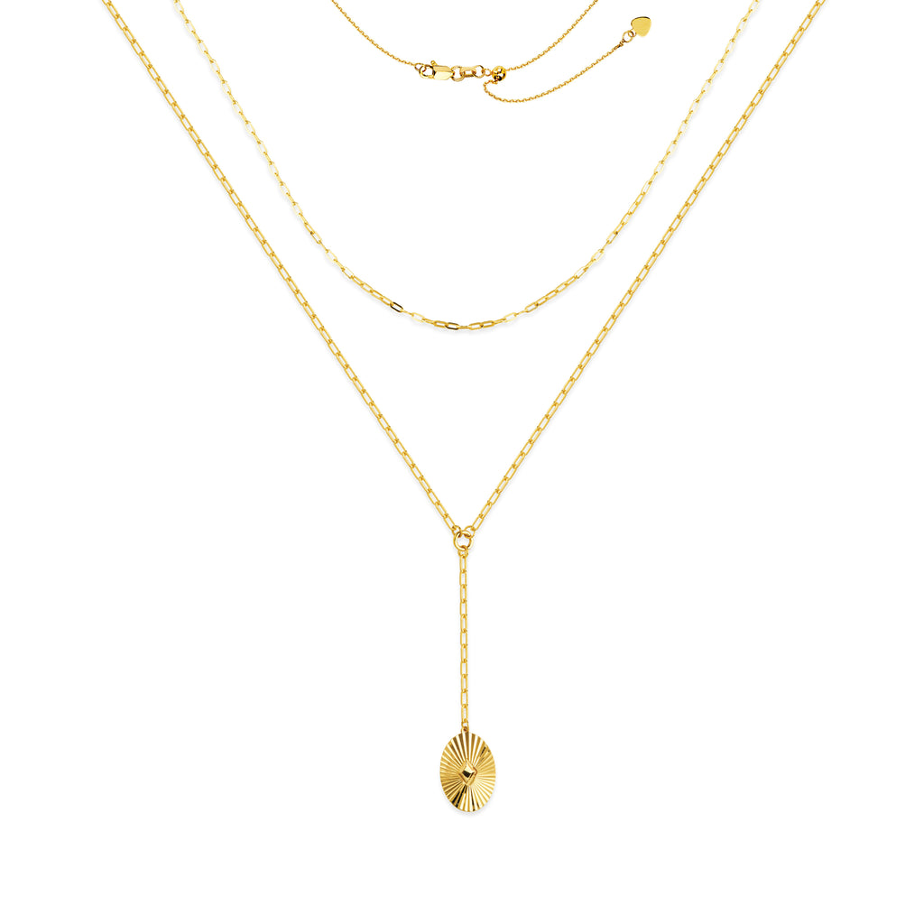 Radiant Double Strand Drop Necklace-Necklace-Milano DG